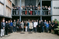 Staff and students of the 2014 Samuel Beckett Summer School, outside the Samuel Beckett Theatre